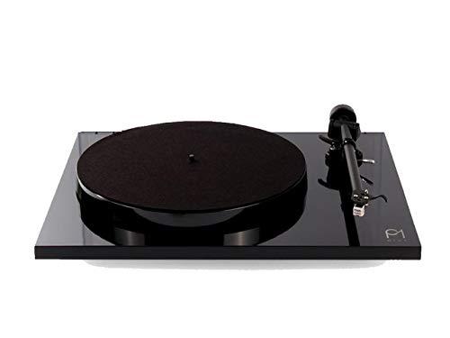 Rega Planar 1Plus Tocadiscos en Negro con eingbauter preamplificador Phono/Phono–Ecualizador