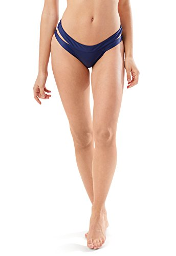 Speedo Women's Trinity Hipster Bikini Bottom, Navy, Small -