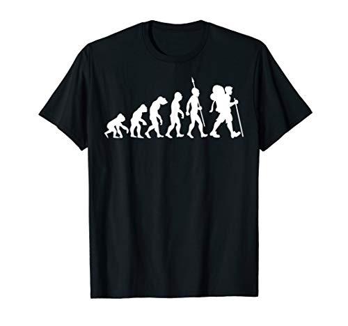 Wandern Wanderer Trekking Berge Evolution T-Shirt Wanderung