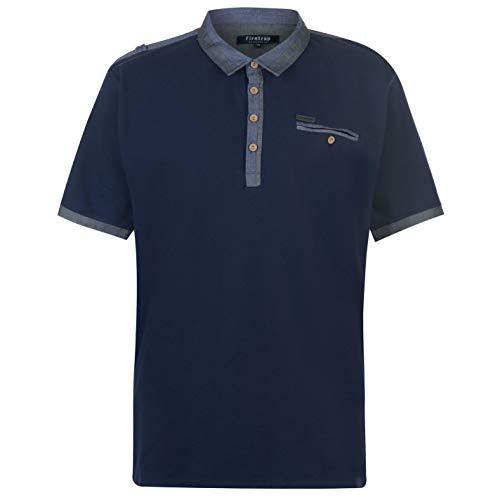 Pierre Cardin Panel Herren Polo Shirt Kurzarm Tee Top Polohemd Poloshirt Navy/Grey XXX Large