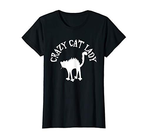 Damen Crazy Cat Lady T-Shirt   Für Katzenliebhaber