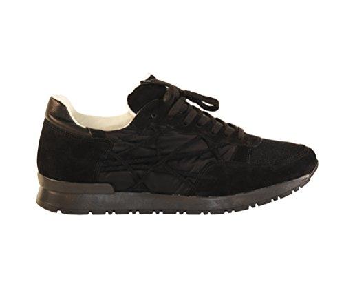 Scarpe Sneakers L4K3 LAKE Unisex Mr BIG Cube Nylon Camoscio Pelle Nero (37 EU)