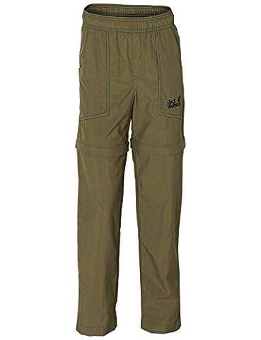 Jack Wolfskin Kinder Hose Desert Zip Off Pants, Burnt Olive, 128, 1604991-5033128
