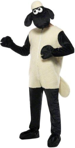 n das Schaf Comic-Kostüm Lizenzware schwarz-beige Einheitsgröße (Schwarze Schafe Fancy Dress Kostüm)