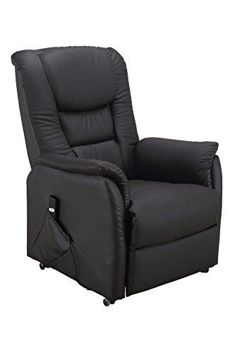 TV-Sessel Santos 1 Oberleder braun, mit Aufstehhilfe 150 kg belastbar