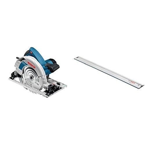 Bosch Professional Handkreissäge GKS 85 G (HM-Sägeblatt, Sechskantstiftschlüssel, L-Boxx, Sägeblatt-Ø: 235 mm, 2200 Watt) + Bosch Führungsschiene FSN 1600 (Länge: 1600 mm)