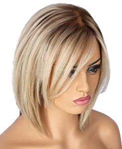 HotQueen Kurze Haare Die Haare Blond Privaten Brasilianischen Bob Perücken 10inch-14inch (Kurze Full Lace Perücke)