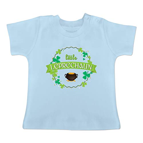 Anlässe Baby - Little Leprechaun St Patricks Day - 3-6 Monate - Babyblau - BZ02 - Baby T-Shirt ()