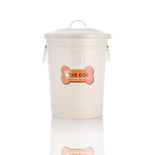 DbKW Futtertonne- Retro, 28 cm 9,5 Liter, Aufbewahrungsdose Metall Futterdose Hundefutter Vorratsdose …