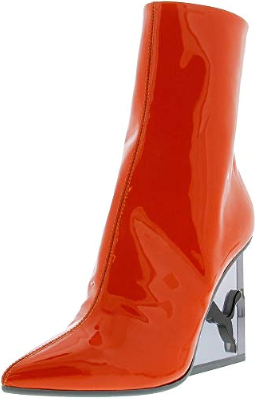 PUMA PUMA PUMA Wouomo x Fenty by Rihanna Cat Patent Leather Wedge avvio Flame nero 6 B US   Discount  376b45