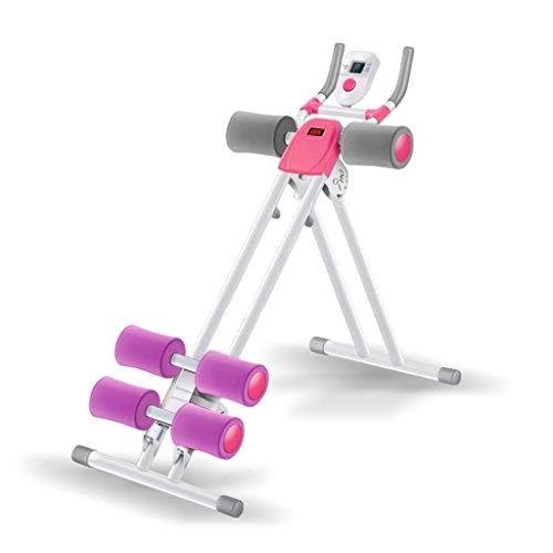 EAHKGmh Bauch-Gerät-Rollenbauch-Maschinen-Schönheits-Taillen-Übungs-Trainings-Bauchmuskeln und dünne Taillen-Eignungs-Ausrüstungs-Hauptgymnastik (Color : White)