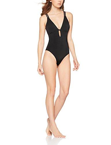 Iris & Lilly Damen Badeanzug mit Neckholder Schwarz (Black)