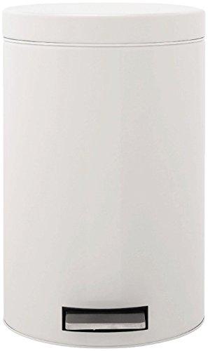 Brabantia Treteimer mit Kunststoffeinsatz, 12 Liter, für Küche & Badezimmer weiß
