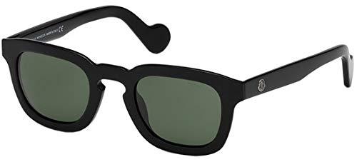 Moncler Unisex-Erwachsene ML0009 01N 47 Sonnenbrille, Schwarz (Nero Lucido/Verde),