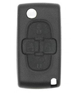 Coque plip 4 boutons PEUGEOT 807 1007 Citroen C8 modèle CE0523- Pile sur circuit