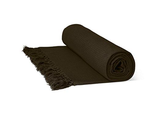 Just Contempo Überwurf/Tagesdecke, aus 100% Baumwolle, mit Wabenstruktur, extragroß, 100 % Baumwolle, Schokolade ( thick heavy next ), Superking Size 102