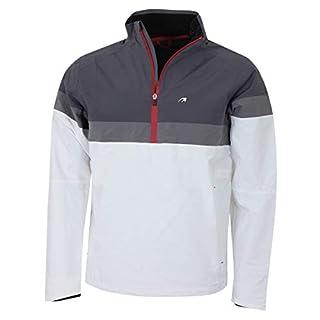 Benross Mens Golf Hydro Pro Q Zip Waterproof Jackets - White - XL