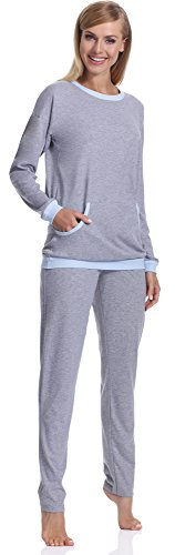 Italian Fashion IF Damen Schlafanzug Abba 0223 Melange/Blau