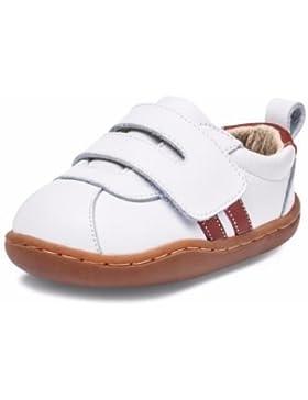Little Blue Lamb Babyschuhe Lauflernschuhe Sneaker Echt Leder 3120 weiß rot