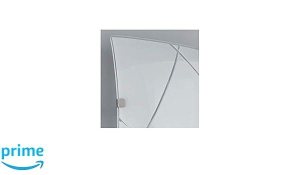Plafoniera Quadrata 40x40 : Fan europe alexia vetro sfumato plafoniera moderna w bianco