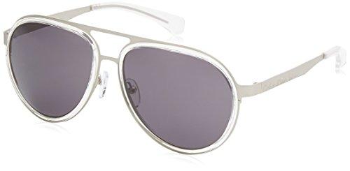 Calvin Klein Jeans Unisex-Erwachsene Square Eye Sonnenbrille, White, 57