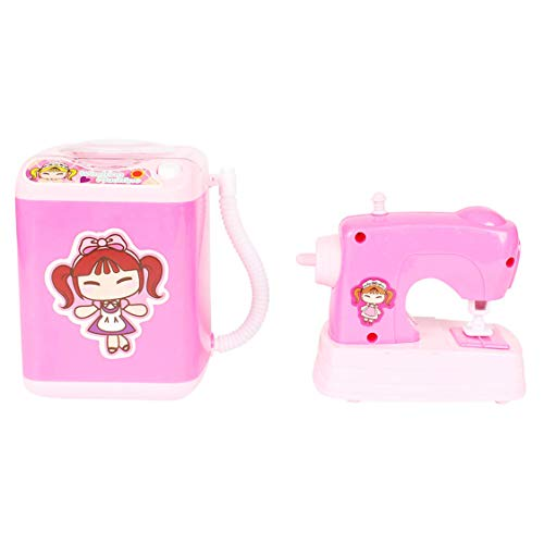 Planet of Toys Battery Operated Electric Washing Machine, Sewing Machine...
