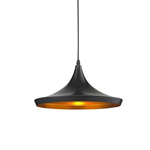 Glighone lampada a sospensione da soffitto modello vintage industriale attacco e27 plafoniera retro paralume in metallo