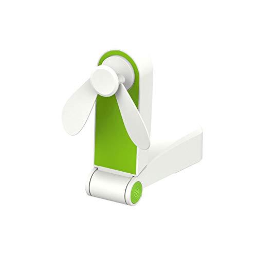1PC Mobile Personal Haltegriff Mini-Ventilator-Taschen-USB-Ventilator Wenig Reisen Folding Fans Wiederaufladbare für Büro-Raum im Freien Haushalt Grün Mini Folding Usb
