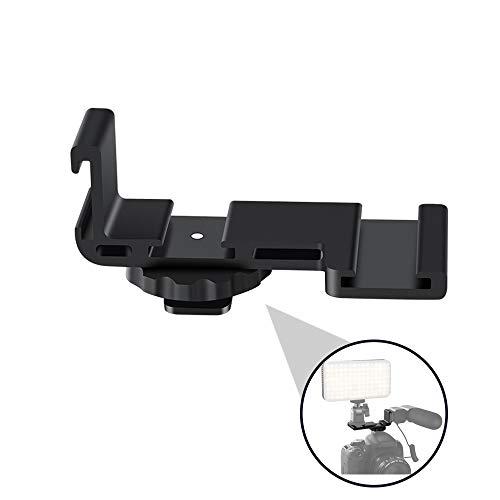 ORDRO Universal Blitzschuh Cold Schuhhalterung Platte Halterung Adapter Dreifach Blitzschuh Adapter Cold Shoe Mount für Mikrofon LED-Videolicht
