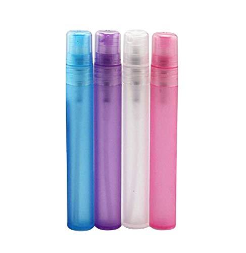 furnido 5ml 10ml Colorful Spray Flasche Parfum Stift Portable Kunststoff Liquid Mist Spray Leere Kosmetik Container Parfüm Zerstäuber Tube Ampullen Kunststoff-Reise-Set Mix colors-pack von 10, 10ml -