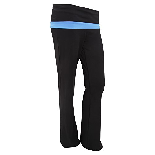 Pantaloni Lunghi perfetti per fare Yoga - Donna Nero/Blu