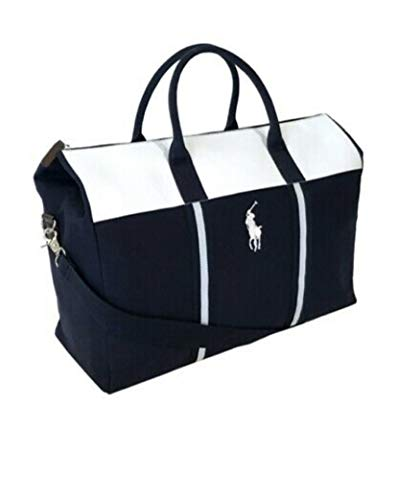 Ralph Lauren Reisetasche, Blau/Weiß