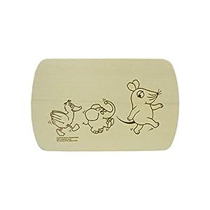 Salewsky Qualitätsholzwaren Frühstücksbrett mit Kostenloser Gravur 24x15cm Maus Elefant Ente TV Serie Sendung mit der Maus Ahorn