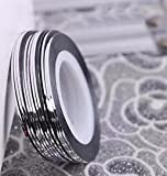 Doyeemei 20pcs nail Sticker Fil Bandes Striping Tape Autocollant Manucure Ongle Nail Art Tips