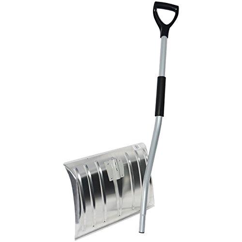 WOLTU #145 Schneeschaufel Schneeschieber Schneeschippe Aluminium Schaufel mit Thermogriff Länge:130cm(2751 Silber) - 4