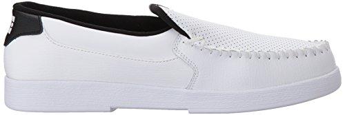 DC Shoes Men's Villain Slip On Low Top Shoes White WK3