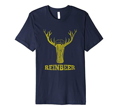 Reinbeer Rentier Bier Funny Weihnachten T-Shirt