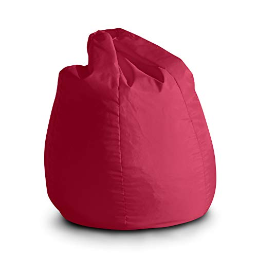Avalon pouf poltrona sacco per bambini bag jive 65x65x90cm made in italy in tessuto antistrappo imbottito colore fucsia