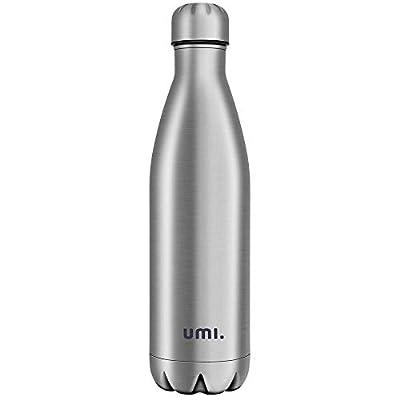 Amazon Marke: Umi. Essentials Vakuum Isolierte Edelstahl Trinkflasche Thermosflasche, BPA Frei Wasserflasche Auslaufsicher - 750ml SportFlasche für Sport, Outdoor, Büro, Kinder, Schule, Kleinkinder, Kindergarten