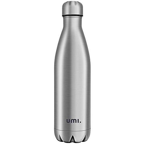 um Isolierte Edelstahl Trinkflasche Thermosflasche, BPA Frei Wasserflasche Auslaufsicher - 750ml SportFlasche für Sport, Outdoor, Büro, Kinder, Schule, Kleinkinder, Kindergarten ()