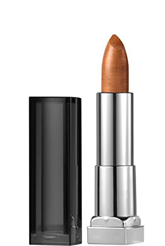 Maybelline New York Color Sensational Matte Metallic Lipstick, 10 Pure Gold, 3.9g