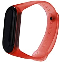 Reloj Xiaomi Band 3, Zolimx Transparente Claro Suave Silicona única TPE Pulsera Reemplazo Correa para Xiaomi Mi Band 3 Pulsera de Actividad (26×18×0.5 cm, Rojo)