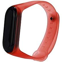 Reloj Xiaomi Band 3, Zolimx Transparente Claro Suave Silicona única TPE Pulsera Reemplazo Correa para