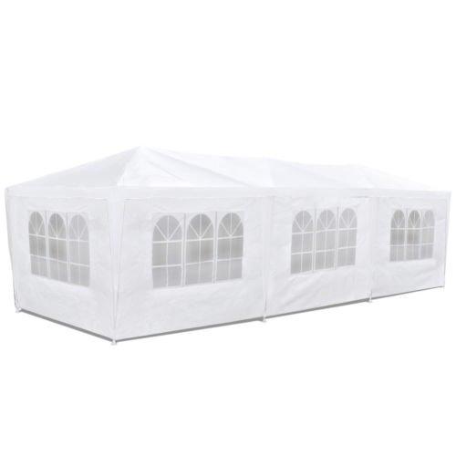 Carpa pabellón 3x9 con laterales. Económico. Color blanco