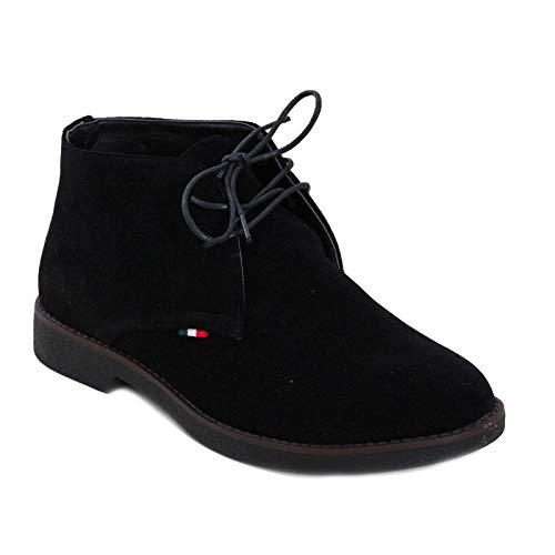 Toocool - scarpe uomo stivaletti boots stivali polacchine camoscio eleganti lacci qp5883 [43,nero]