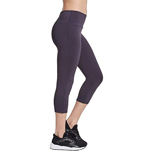 COOLOMG Damen Yoga Capriss 3/4 Hosen Kompression Leggings Sport Trainingshose Dunkelgrau XXL (Xxl Trainingshose Frauen)