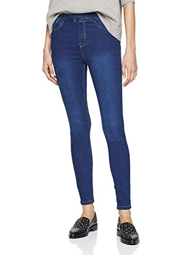 QZS Clothing Skinny Denim Jegging, Legging, Tights by (50 Plus Size, Mid Blue)