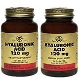 Solgar Hyaluronic Acid 120mg - 30 - Tablet- 2 Bottles