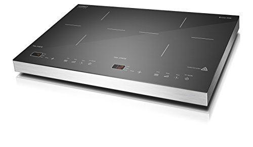 Caso S-Line 3500 - Placa de inducción portátil de dos fuegos
