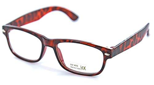 Nerd-Brille schwarz braun Horn-Brille ohneSehstärke Herren Damen Panto-Brille Lese-Brille Wayfarer Nerd-Brille Geek-Brille